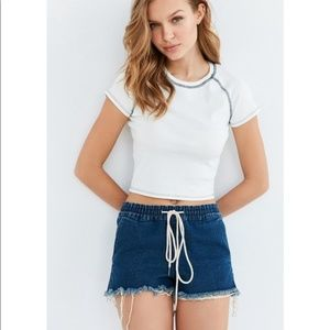 BDG Urban Outfitters Ava Drawstring Denim Shorts